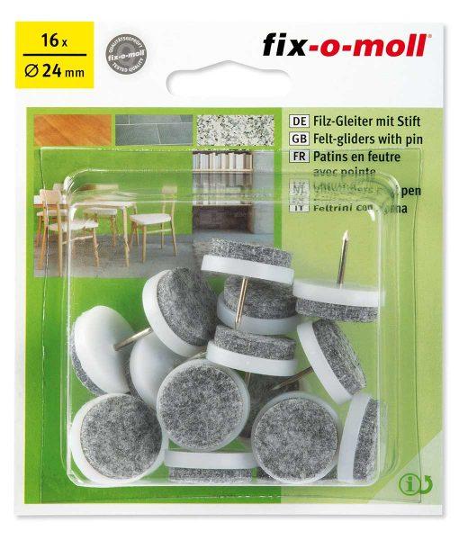 Подложки за крака на столове и мебели с пирон Fix-o-moll 2