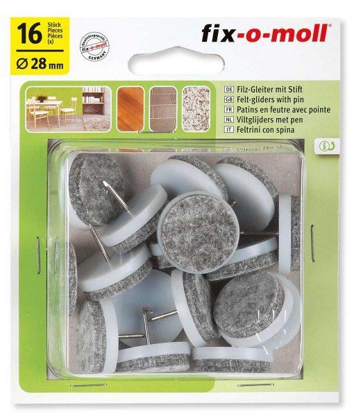 Подложки за крака на столове и мебели с пирон Fix-o-moll 3