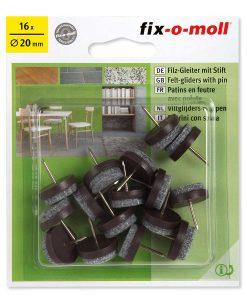 Подложки за крака на столове и мебели с пирон Fix-o-moll 4