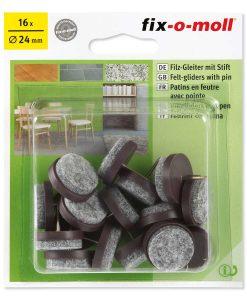 Подложки за крака на столове и мебели с пирон Fix-o-moll 5