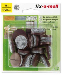 Подложки за крака на столове и мебели с пирон Fix-o-moll 6