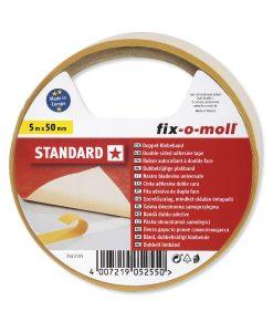 Двойнозалепващо тиксо Standard 50 мм fix-o-moll