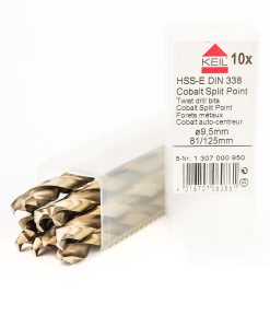 Комплект свредла за метал кобалтови 10 бр. HSS-E Din 338 Keil