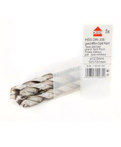 Комплект свредла за метал 5 бр. HSS DIN 338 шлифовано Keil
