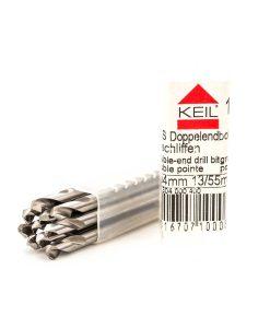 Комплект свредла за метал двустранни HSS шлифовано Keil