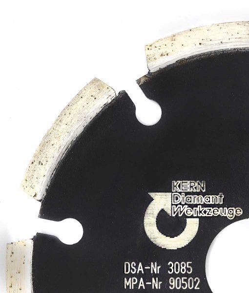 Диамантен диск за абразиви и асфалт сегментен Kern 2