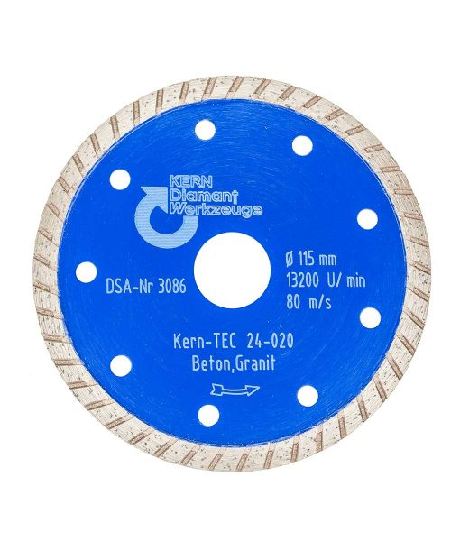 Диамантен диск за бетон и гранит турбо Kern