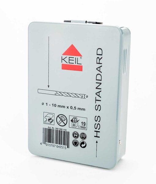 Комплект свредла за метал 25 бр. HSS DIN 338 Keil 7