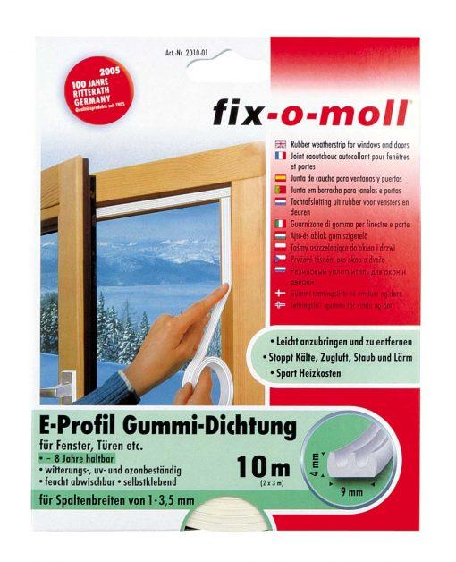 Уплътнение за врати и прозорци гумено fix-o-moll