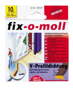 Уплътнение за врати и прозорци V профил дълготрайно fix-o-moll 2