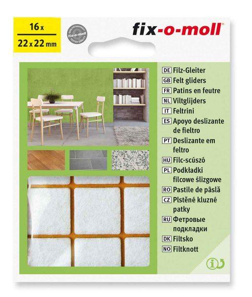 Подложки за мебели филцови бели fix-o-moll 2