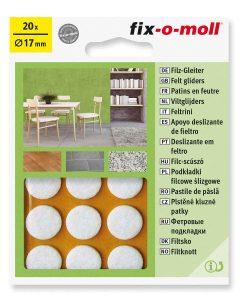 Подложки за мебели филцови бели fix-o-moll