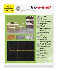 Подложки за мебели филцови кафяви fix-o-moll 2