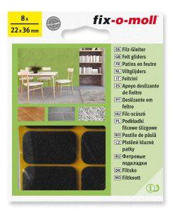 Подложки за мебели филцови кафяви fix-o-moll 3