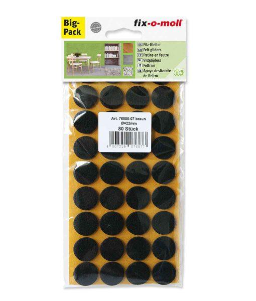 Подложки за мебели филцови кафяви fix-o-moll 4