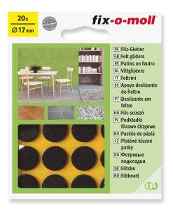 Подложки за мебели филцови кафяви fix-o-moll