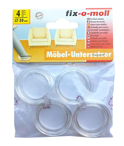 Подложки за тънки крака на мебели fix-o-moll