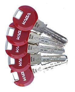 Ключалка за врата Penta с късо рамо и ламели Kaba 4