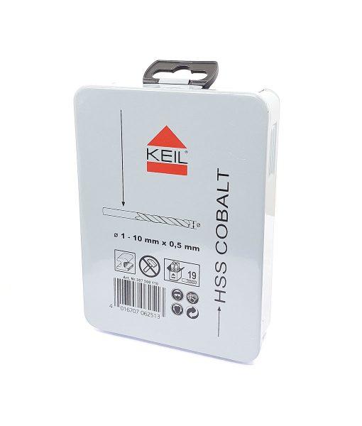 Комплект кобалтови свредла за метал 19 бр. Keil 7