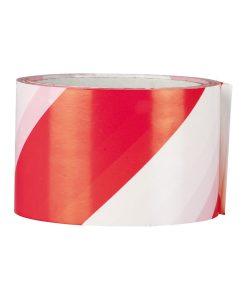 Сигнална лента самозалепваща червено бяла fix-o-moll